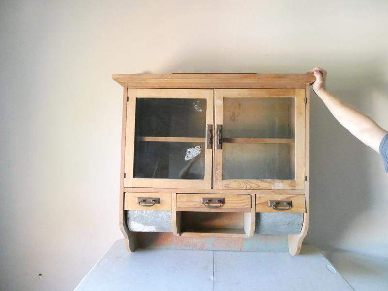 Lot # 178- Antique kitchen cabinet- wall mount (main image)