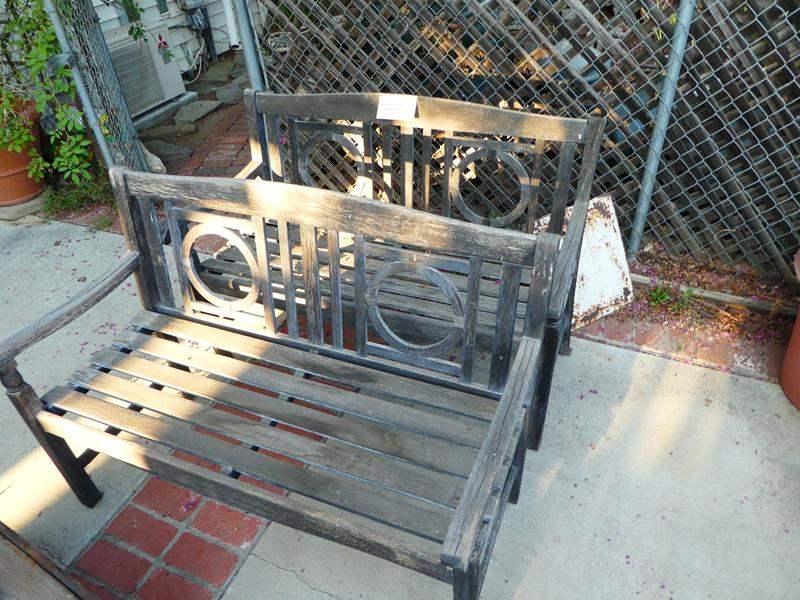 Lot # 458-  2 Vintage/ antique decorative garden benches (main image)