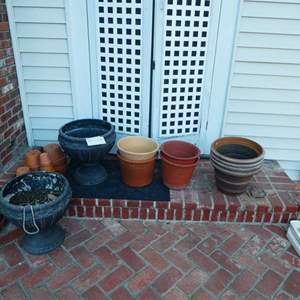 Auction Thumbnail for: Lot # 451- Several clay and plastic pots