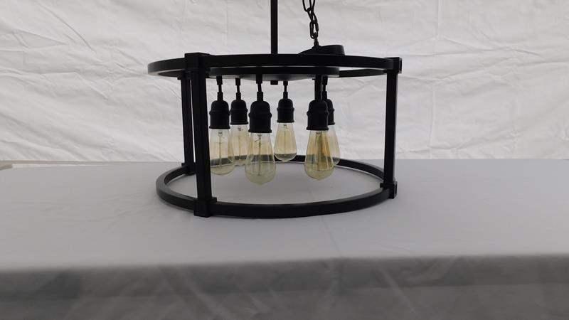 Lot # 2 - Modern Hanging Light Chandelier Fixture (main image)