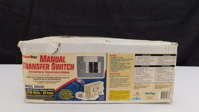 Lot # 16 - Manual Transfer Switch (main image)
