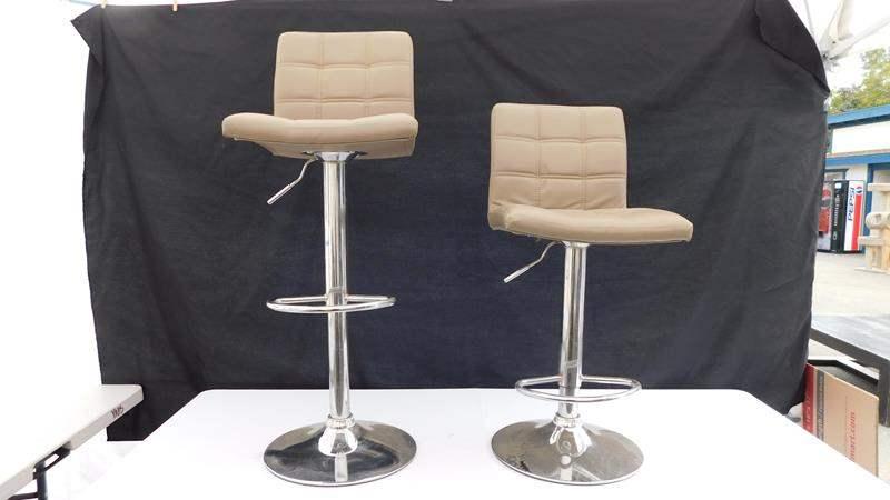 Lot # 19 - 2 adjustable bar stools (main image)