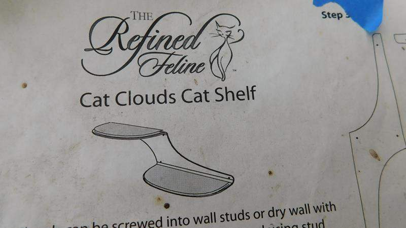 "Lot # 32 - Cat cloud shelf 38"" long (main image)"