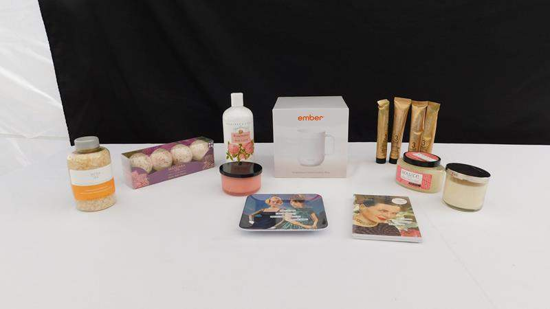 Lot # 48 -Ember control temperature mug | assorted spa items (main image)