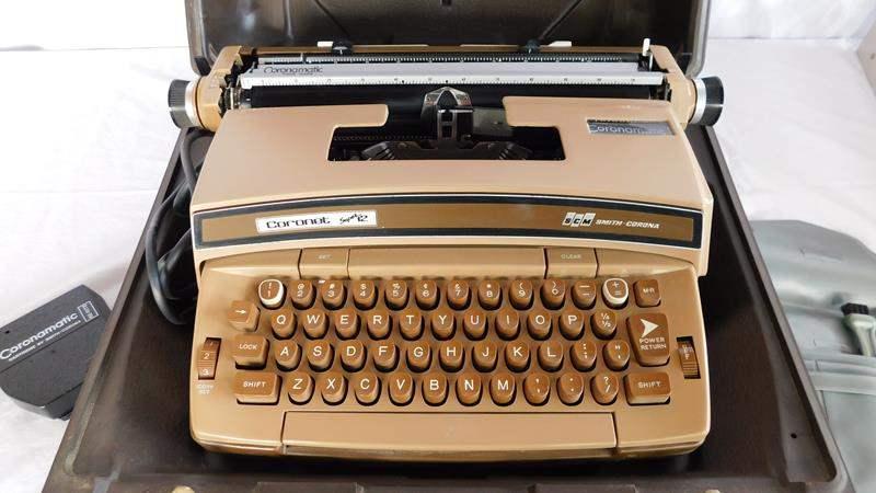 Lot # 51 - Vintage type writer and desk riser/ drawer (main image)