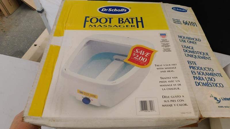 Lot # 69 - Dr. Scholl's footbath massager (main image)