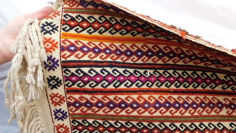 Lot # 88 - Hand woven rug- see all pictures (main image)