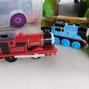 Auction Thumbnail for: Lot # 92 - Thomas train track set! 2 tubs full of all accessories