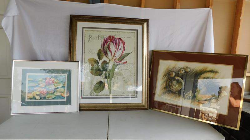 Lot # 108 -Framed art! See all pictures for dimensions  (main image)