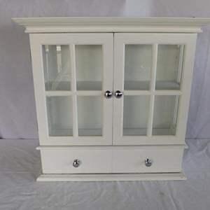 Auction Thumbnail for: Lot # 54 - White wood shelf cabinet