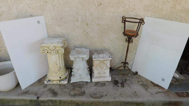 Lot # 395- Outside Pillars and metal stand (main image)