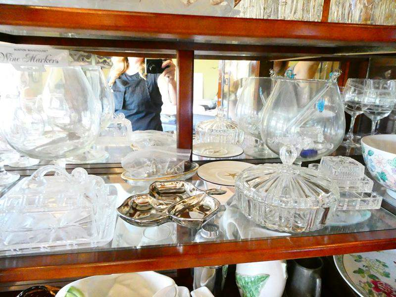 Lot # 9- Lots of crystal, glass bowls, serving dishes and more (main image)