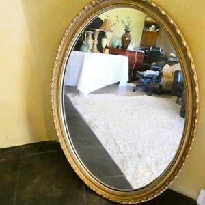 Auction Thumbnail for: Lot # 19- Two bronze, oval mirrors
