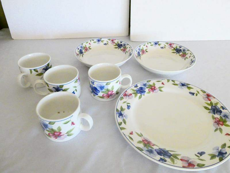 """Lot # 38- Majestic ware by """"onieda""""- full setting for 7 (main image)"""