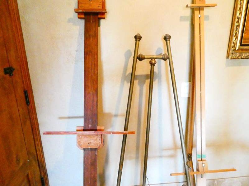 Lot # 48- Three large Art easels  (main image)