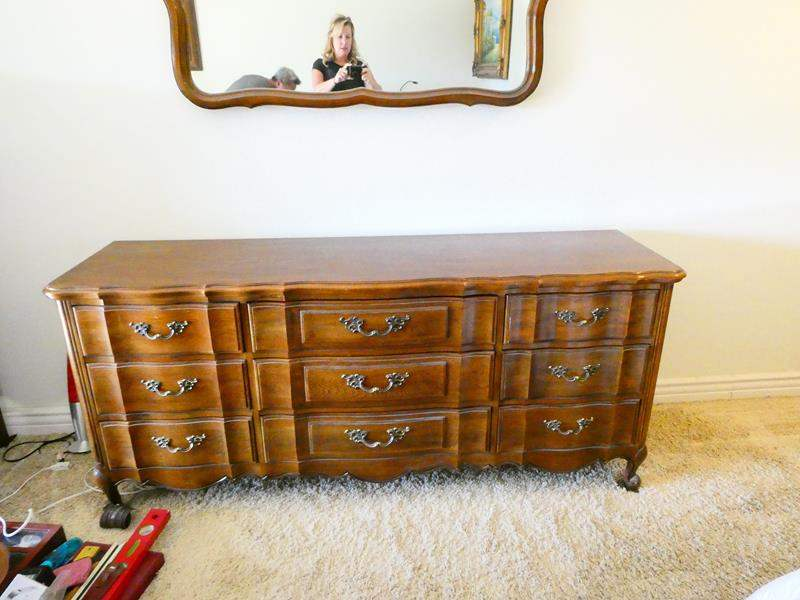 Lot # 51- Thomasville dresser with mirror (main image)