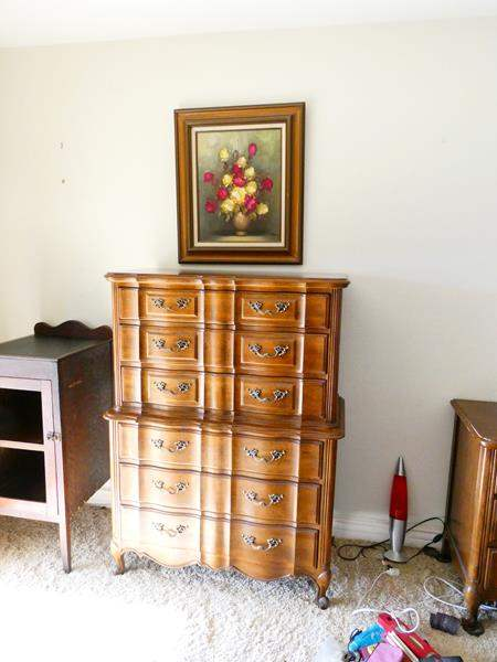 Lot # 53- Thomasville tall dresser with paining (main image)