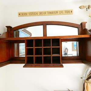 Auction Thumbnail for: Lot # 60- Wooden hanging shelving unit