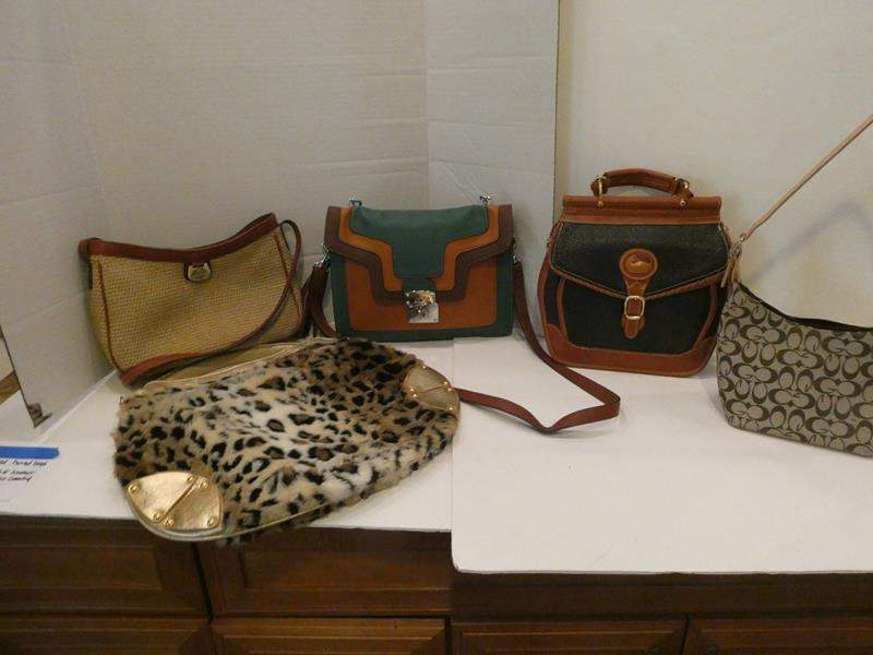 Lot # 80- Assorted hand bags: Dooney & Bourke leather (main image)