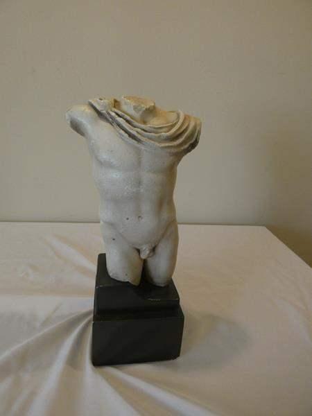 Lot # 92-Collectors item- Greek/ Roman male torso sculpture- Replica (main image)