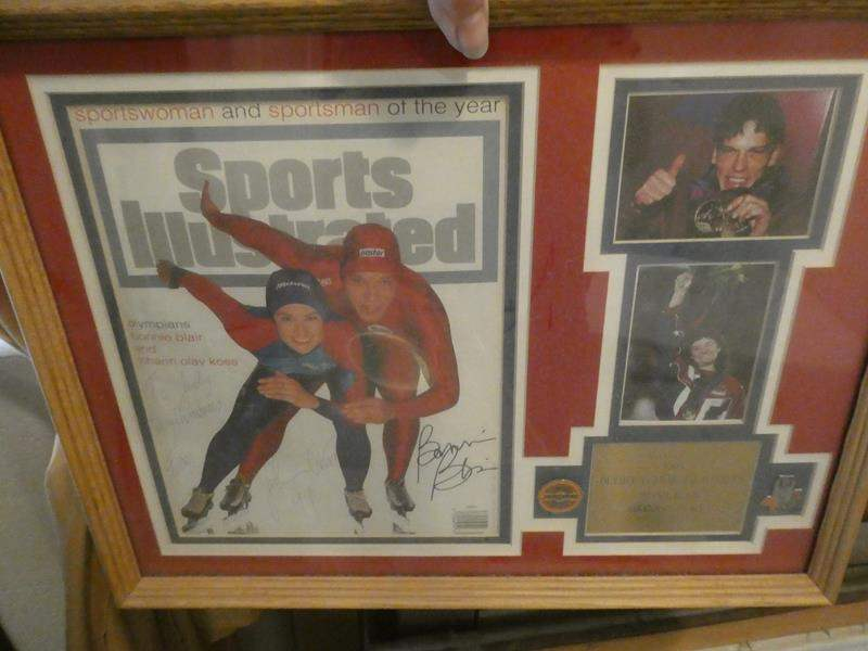 Lot # 94-Tons of framed art/ 1984 collectors Olympic pins/ Norman Rockwell pictures (main image)