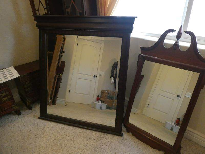 Lot # 95- Two wall mirrors/ 1 made in Vietnam (main image)