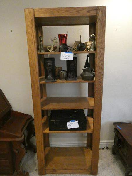 Lot # 101- Wood bookshelf- contents not included (main image)