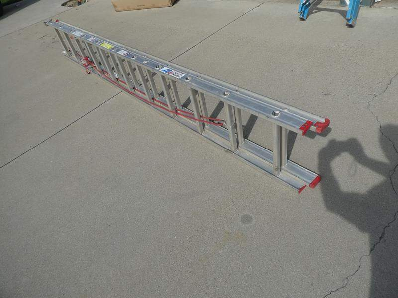 Lot # 202- All American extension ladder. Great condition/ Aluminum 22ft. (main image)