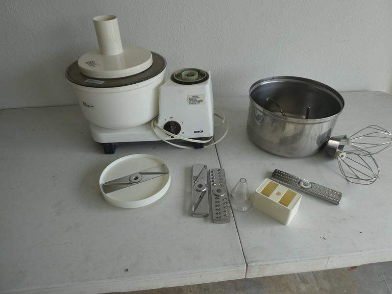 Lot # 205- Bosch mixer loaded with accessories see pictures (main image)