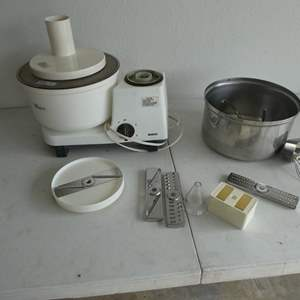 Lot # 205- Bosch mixer loaded with accessories see pictures