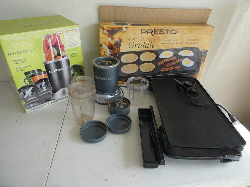 Lot # 207- 600 Watt Magic bullet blender and Presto cool touch electric griddle (main image)