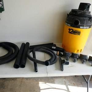 Lot # 211- Heavy duty wet/dry 12 gallon shop vac 20HP