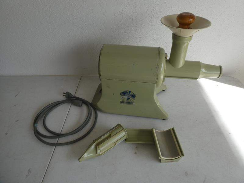 """Lot # 215- Vintage """"The Champion"""" juicer with attachments  (main image)"""