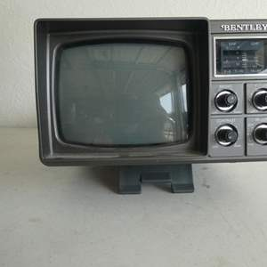"""Lot # 216- Vintage """"Bentley"""" Deluxe portable 5"""" black and white TV"""