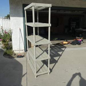 Lot # 222- Keter Plastic shelf/ Great shape- needs a little cleaning
