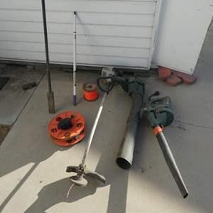 Lot # 233- Black and Decker Leaf blower, Echo/ 2 stroke gas weed wacker