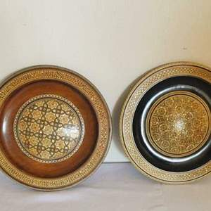 Lot # 12- Antique, mother of pearl, Decorative hanging plates