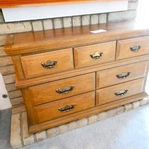 Lot # 71- 7 drawer dresser- Solid wood- sturdy