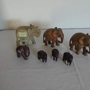 Lot # 6- Elephant collection-one Alabaster genuine soap stone
