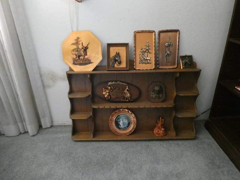 Lot # 13- Vintage Plaques with copper art  (main image)