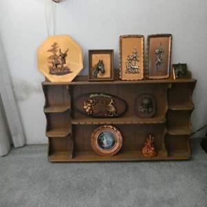Lot # 13- Vintage Plaques with copper art