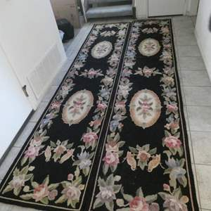 Lot # 20- Two beautiful floral runners