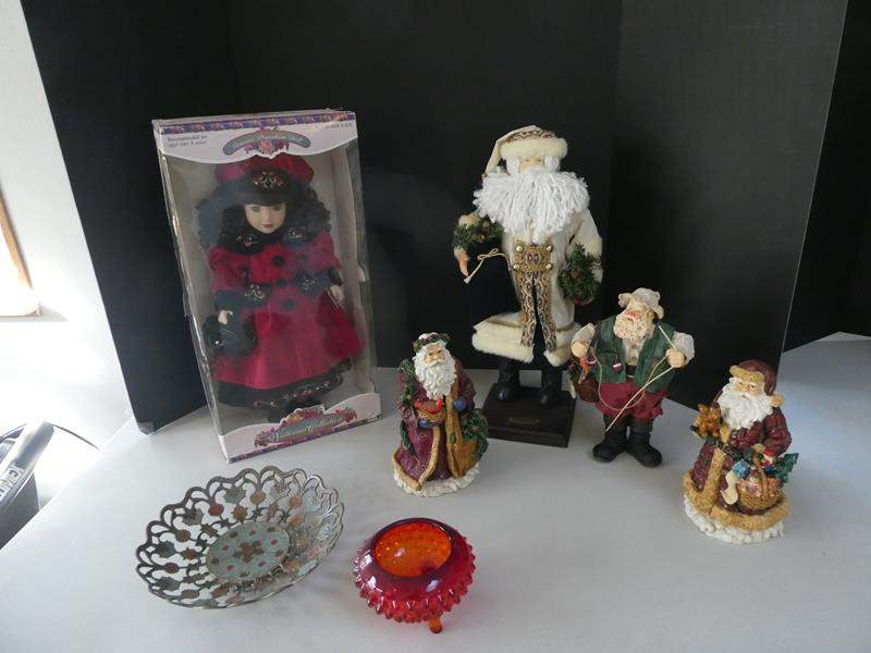 Lot # 45- Cute Christmas decor | Santa collection | Collector porcelain dolls and more (main image)