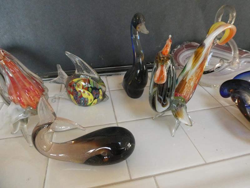 Lot # 46- Blown glass ware (main image)