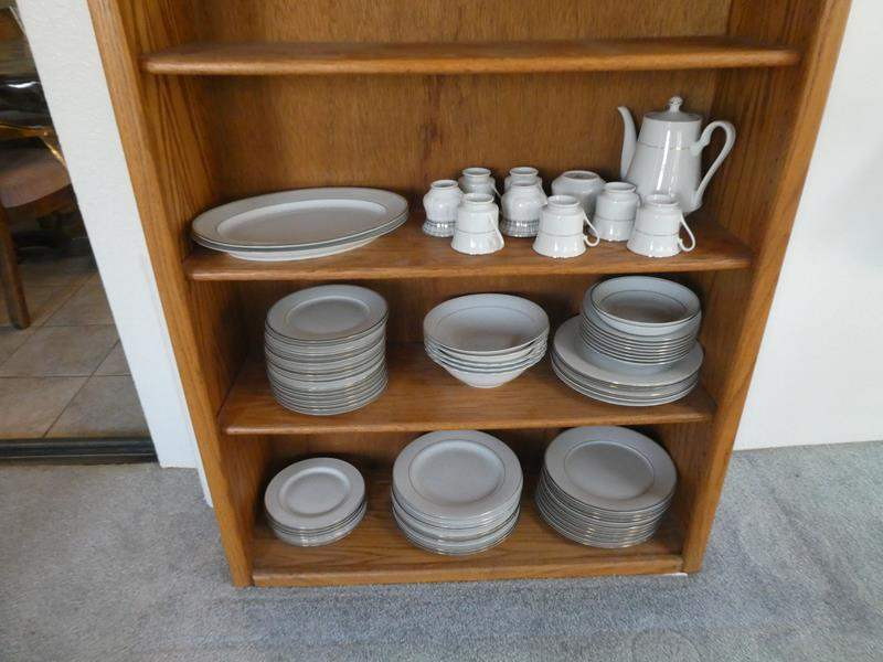 Lot # 51- Muirefield fine China and Signature china (book shelf not included) (main image)