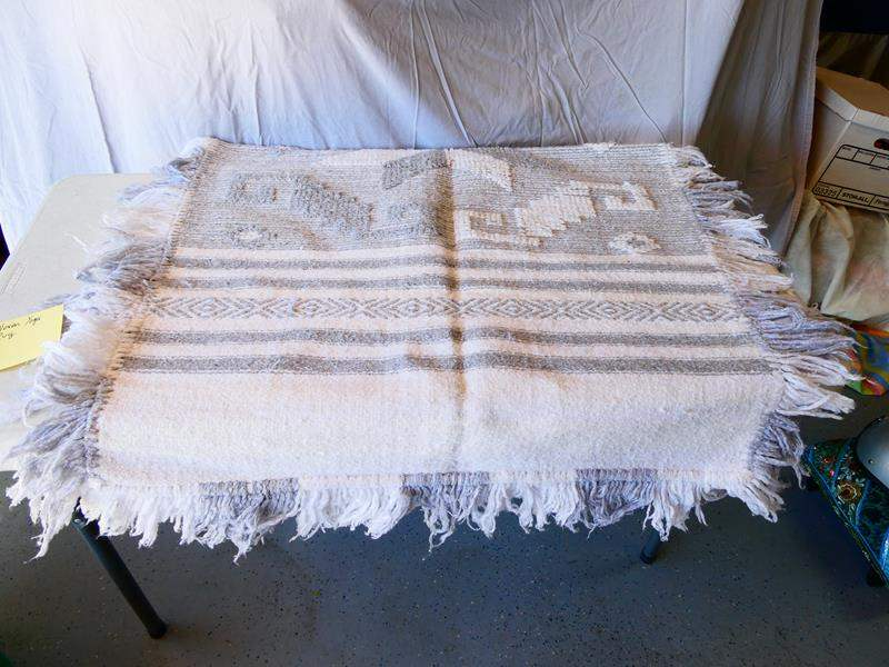 """Lot # 185-Wool woven yoga rug/ 62"""" by 36"""" (main image)"""