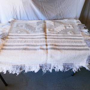 """Lot # 185-Wool woven yoga rug/ 62"""" by 36"""""""