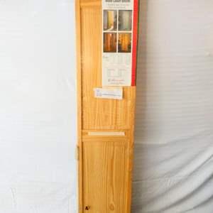 "Lot # 2-""New""Pine unfinished bi-fold door- 2 piece"