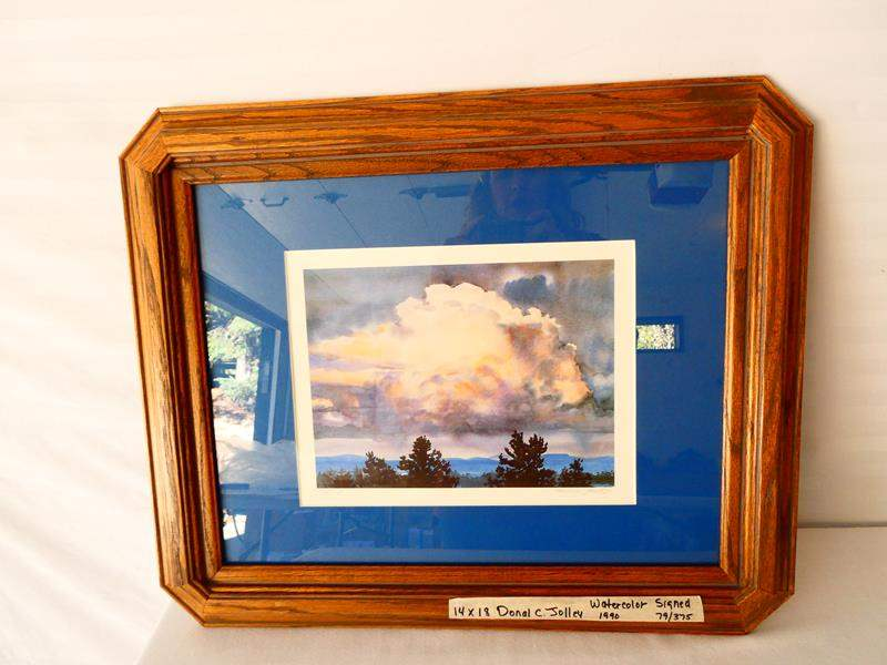 Lot # 17- Signed watercolor by Donal C. Jolley, 1996 (main image)