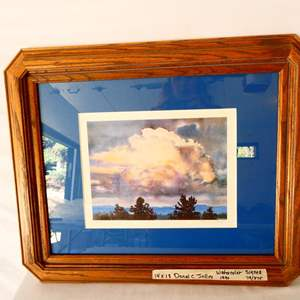 Lot # 17- Signed watercolor by Donal C. Jolley, 1996